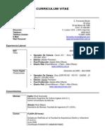 Curriculum Vitae - Fernando Morán