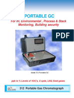 Model 312   Portable Gas Chromatograph 4pg 306