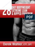 28 Day Bodyweight Extreme Lean and Ripped Program