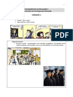 Fundamentos da Educação 2 - Unidade 1 - 2016
