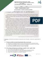 Teste Módulo 3, Português 10º ano profissional