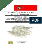 Aportaciones Durkheim a la Sociología Económica