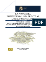 La Propuesta Institucionalista Frente Al Modelo Neoclásico