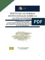 Efectos de Las Normas Institucionales Sobre La Cción Económica