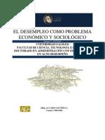 El Desempleo Como Problema Economico y Social