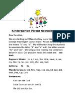 parent newsletter 15