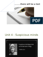 unit 4 - suspicious minds