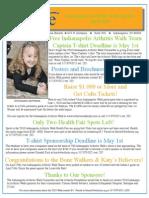 iMove, Indianapolis Arthritis Walk April e-newsletter