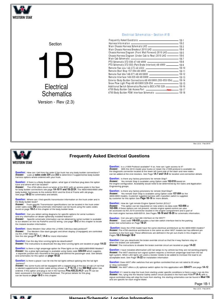 01b Electschematics Feb2015 Electrical Connector Truck Western Star Cruise Control Wiring Diagram