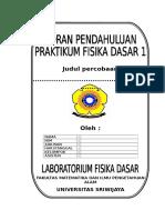 Format Laporan Pendahuluan Praktikum Fisika Dasar 1