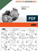 ktm125-04 reservdelsbokmotor