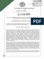 Decreto 298 Del 24 de Febrero de 2016