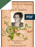 funeral memorial program booklet design