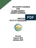 Clark County Rules of Procedure 2016