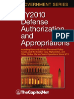FY2010 Defense Authorization and Appropriations