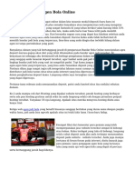 Cara Menyeleksi Agen Bola Online