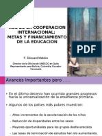 UNESCO - Edouard Matoko Papel cooperación en financiamiento 15 de abril (2)