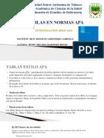 Tablas en Normas Apa6