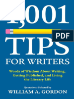 1,001 Tips for Writers - William a. Gordon