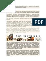 Qué Papel Juega La Familia en El  Proceso Educativo de Los Niños