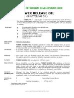 Power Release Oil