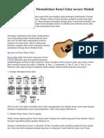 Tips Mengenal dan Memahirkan Kunci Gitar secara Mudah