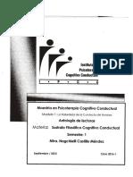 Sustrato Filosófico de la Terapia Cognitivo Conductual