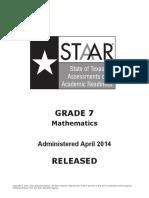 STAAR G7 2014Test Math