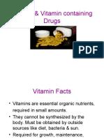 VITAMINS & VITAMIN CONTAINING DRUGS