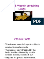 VITAMINS & VITAMIN CONTAINING DRUGS