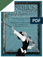 Handel's Soulful Messiah Program Booklet