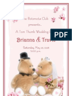 Tom Thumb Wedding Program