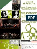 """Dossier Juventudes Musicales-Universidad de León """"Jóvenes en Concierto"""" 2010"""