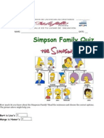 Simpsons Family Quiz