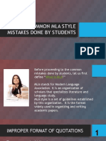 Most Common MLA Style Mistakes Done by Students