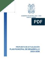Propuesta Actualizacion PMD 2013 2016