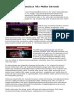 Cara Menang Di Permainan Poker Online Indonesia