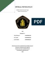 Proposal Penelitian dalam metodologi peneletian