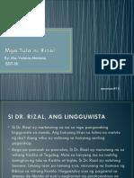 Mga Tula Ni Rizal