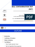 Amv - Microbial Contamination Test (Mct)