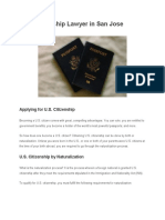 U.S. Citizenship Lawyer in San Jose