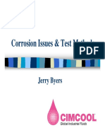 Corrosion Issues & Test Methods