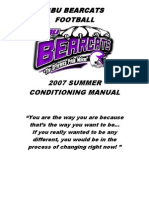 2007 SBU Bearcats Summer Workout - 103 pages