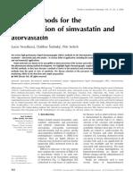 HPLC Methods for the Determination of Simvastatin and Atorvastatin