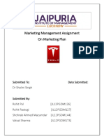 Marketing Management Assignment