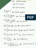 Examen Integrales Indefinidas 1º Bachilerato