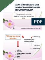 Dasar-dasar Mikrobiologi Dan Peranan Mikroorganisme Dalam Kehidupan Manusia