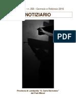 Notiziario 258 - Frati Minori di Lombardia