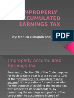 Improperly Accumulated Earnings Tax