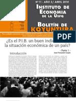 Koyuntura # 11 - JF Carpio - Crítica al PIB Parte 1